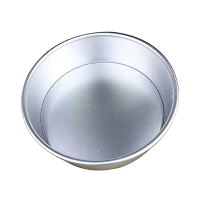 Shotbow Durable 4/6/7/8 Inch Aluminum Alloy Non-Stick Round Cake Baking Mould Pan Bakeware Tool Non-Toxic Mould for Household and Kitchen (Silver, 8 inch): Toys & Games