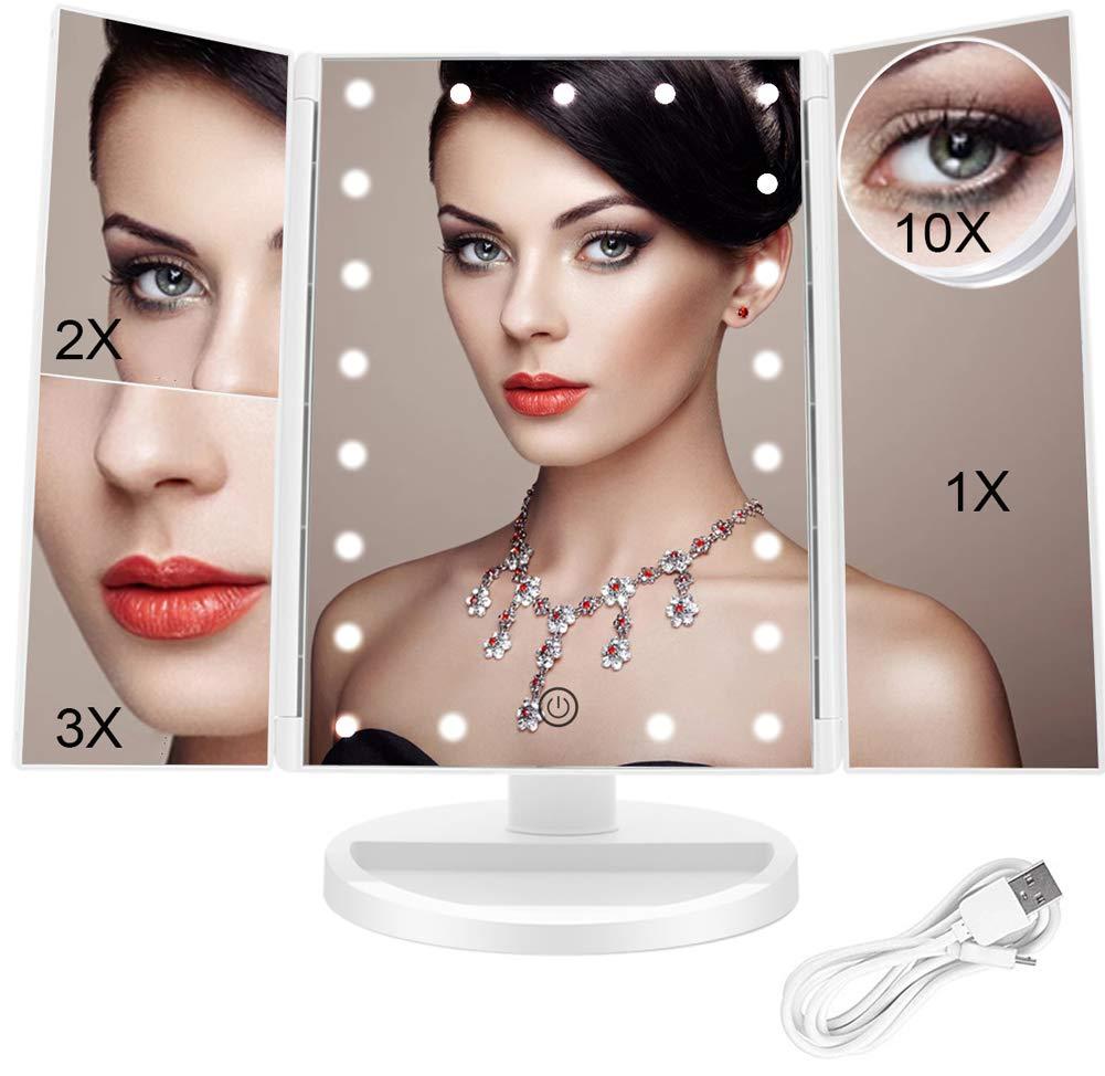 FACINATE-Espejo de maquillaje con luz