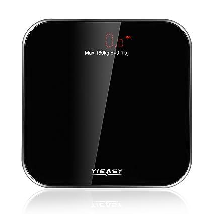 Báscula de baño, báscula digital escala de peso corporal, Step-On dispositivo de