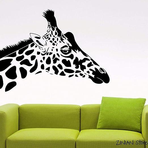 Pegatinas de cabeza de jirafa pegatinas de pared calcomanías de ...