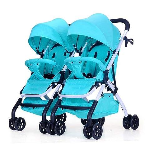 CXCX Cochecitos De Bebé Gemelos Plástico Plegable De Aleación De Aluminio Puede Sentarse Puede Mentir Alto