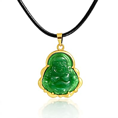 Bling jewelry synthetic jade laughing buddha pendant polyester rope bling jewelry synthetic jade laughing buddha pendant polyester rope necklace 18 inches aloadofball Image collections