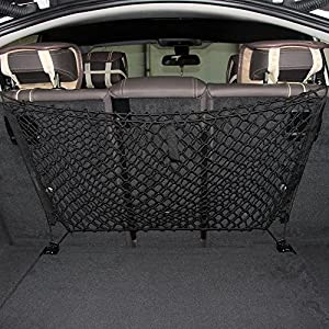 Zone Tech Mesh Vehicle Organizer Premium Quality Sturdy Black Net Item Trunk Cargo Car Organizer
