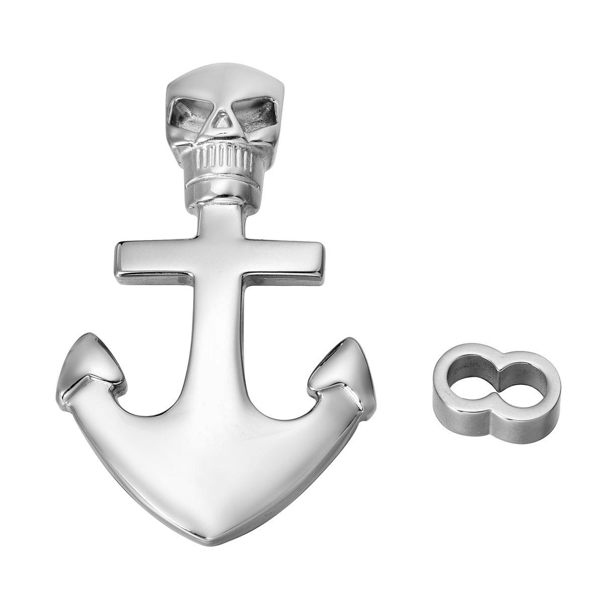 Boat anchor 32mmx21mm Acier inoxydable 1/pcs argent/é en acier inoxydable double trou Ancre Fermoir et charm Pendentif pour la confection de bijoux Appr/êt 32/Mmx21/mm