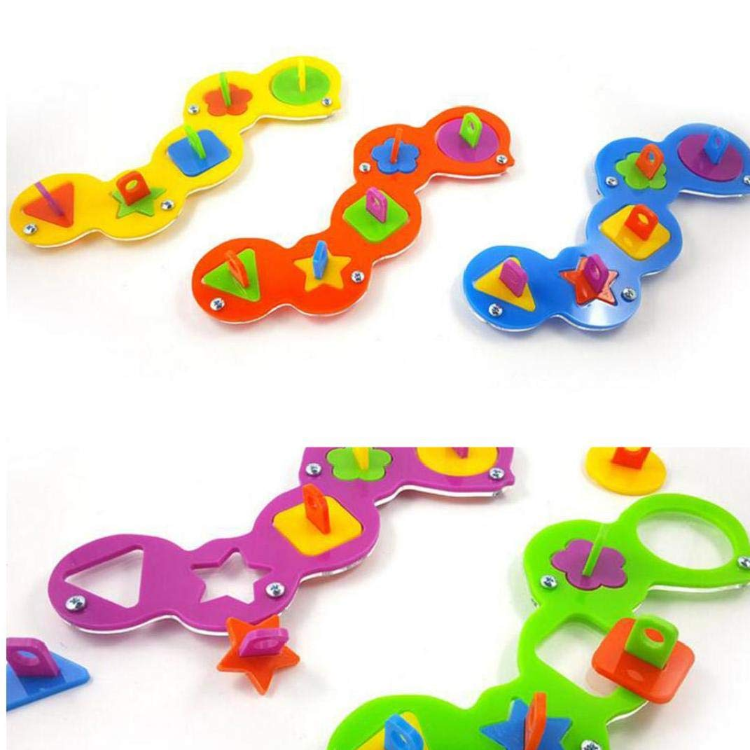 Unicoco Parrot Toy Acrylic Puzzle Bird Intelligence Training Toy Bite Toy Building Blocks Toys For Parakeet Macaw African Greys Budgies Random Color