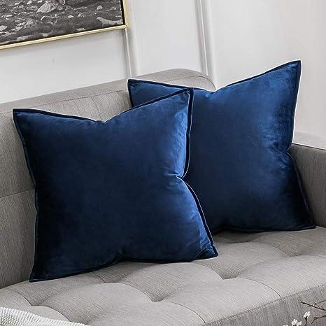 Mv19 Dark-Blue Crushed Velvet Sofa Seat Patio Bench Cushion Bolster Cover//Runner