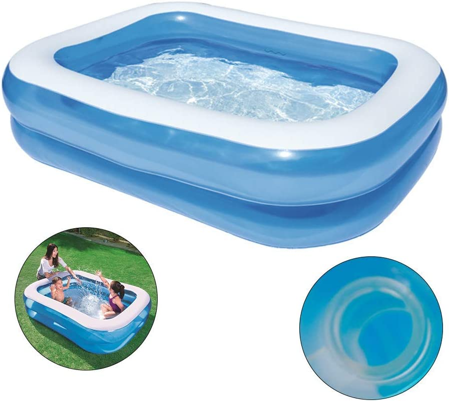Kids Inflatable Swimming Pool For Household Use Children S Inflatable Swimming Pools With Exhaust And Inflatable Double Air Valve Sports Outdoors