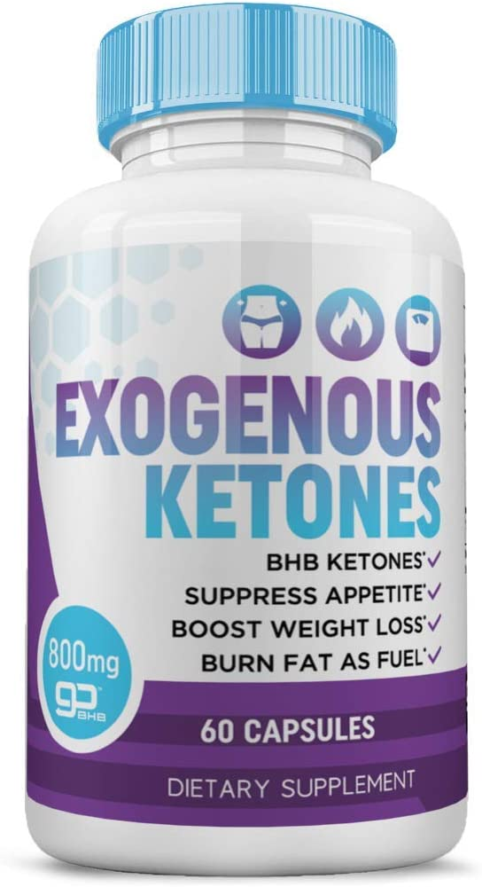 Keto Pills & Exogenous Ketones - Weight Loss Pills for Women - Appetite Suppressant - Burn Fat Fast - Ketosis Supplement - 60ct