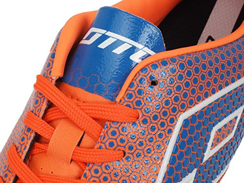 Lotto Spider 700 Xiii TF, Chaussures de Football Homme, Multicolore-Naranja / Azul (Fant Fl / Blu Shv), 40 EU