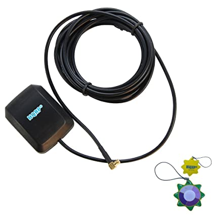 HQRP Antena GPS externa amplificada fijación magnética 1575.42 MHz para + HQRP Medidor del sol