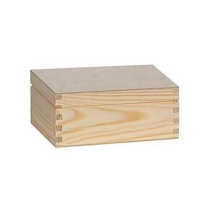 Caja, caja de té té pequeñas piezas de caja de almacenamiento de madera con compartimento