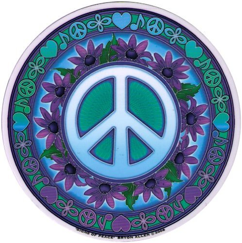 Signs of Peace – Peace Window Sticker / Decal - Hippie wall decor
