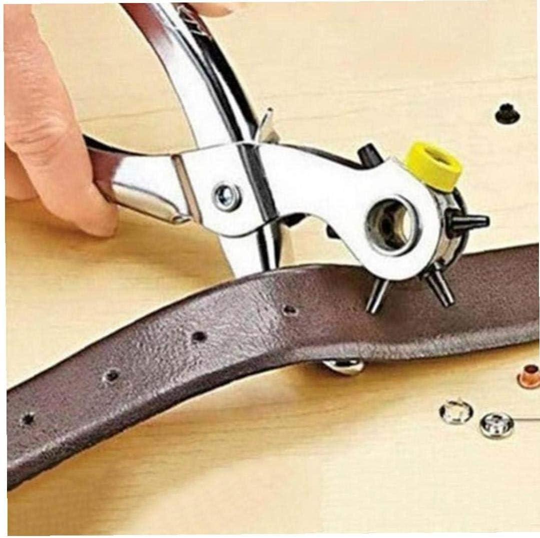 Casecover 1Pc Della Famiglia di qualit/à Cintura perforatrice Perforatori Pelle Strumenti Fori Punch Machine 3-in-1 strumento Mano pinze Con 5 fori formati