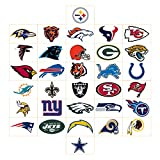 50 NFL Football Stickers Helmet Logo Sticker Set (All 32 Teams plus 18) 49ers Bears Broncos Chiefs Cowboys Dolphins Eagles Giants Lions Packers Panthers Patriots Raiders Saints Steelers Texans