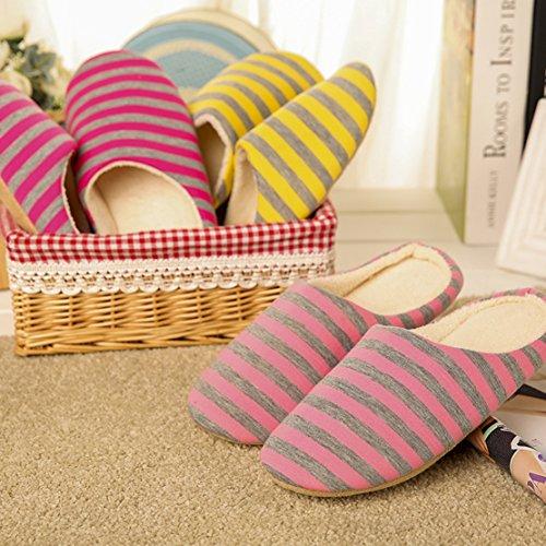 Indoor Slippers Women Pink Winter Cotton Men Slippers 5C8HR0w5q