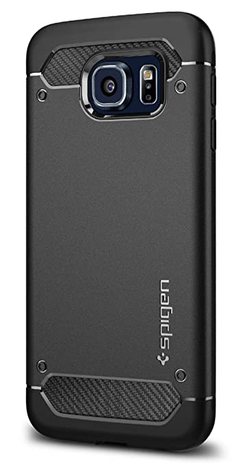 651 opinioni per Custodia Galaxy S6, Spigen [Capsule Rugged] Impressionante Black [Design