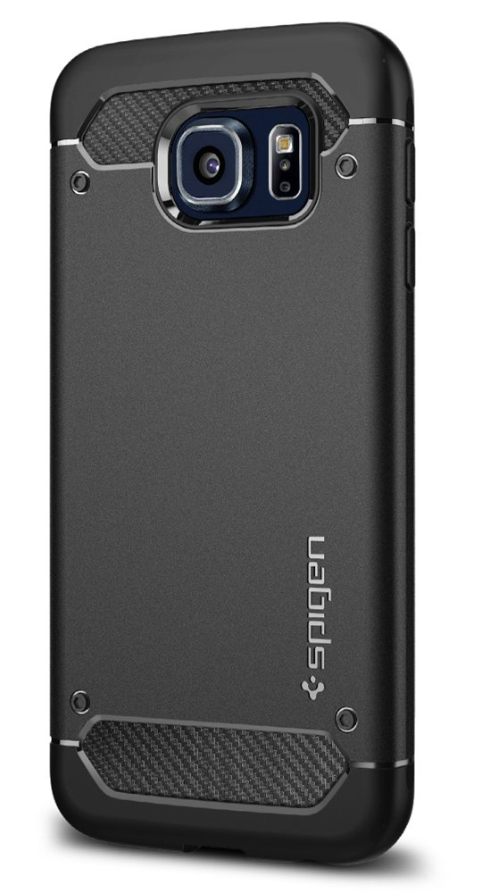 Funda Spigen Samsung S6 [Black] Rugged Armor