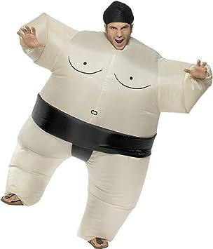 sumo Disfraz hinchable de color blanco negro Ringer Disfraz Sumo ...