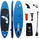 YASKA Inflatable Stand Up Paddle Board 10.4 Feet x 30 Inches x 6 Inches Lightweight & Durable with SUP, Pump, Adjustable…