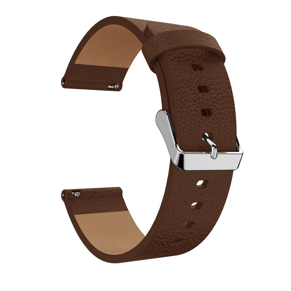 Sodoop Luxury Leather Adjustable Bands Replacement Accessories Wristband Straps for Fitbit Versa (Brown)
