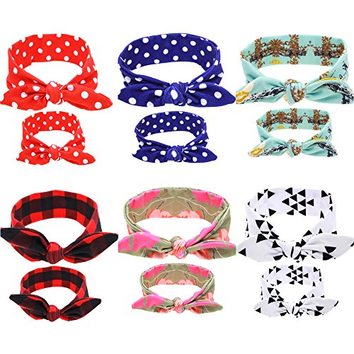 Little Kisses Baby Wash - BEEGOO 6 Sets 6 Colors Mommy and Me Headbands Hair Band Bow Knot Headbands Baby Hair Accessories Turban Baby and Mommy Cotton Headwrap Set 2 Pcs (6 sets)