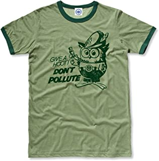 product image for Hank Player U.S.A. Official Woodsy Owl Men's Ringer T-Shirt