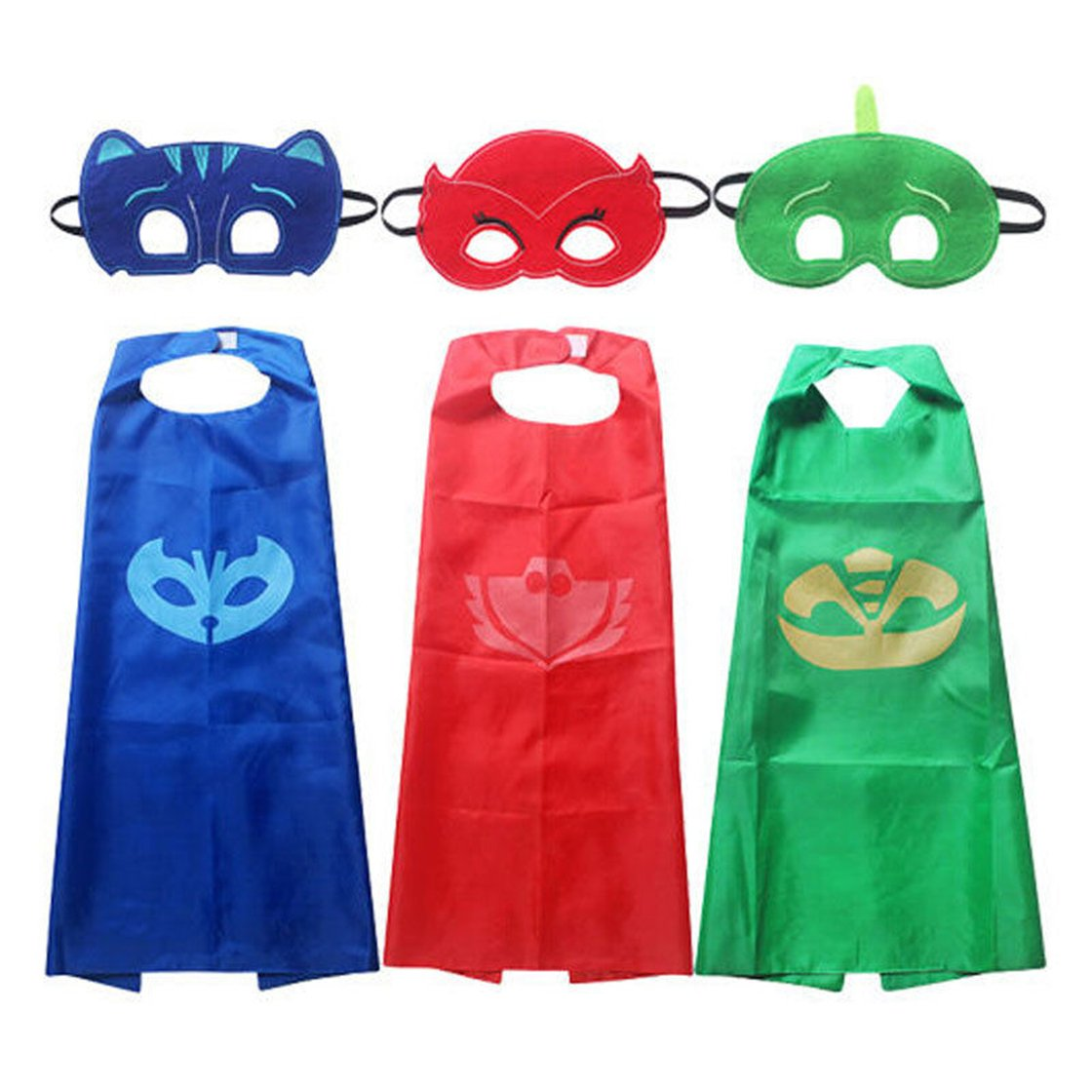 stayeal 1 Set Cape + máscara Owlette Catboy Cosplay Niños de disfraces disfraz Regalos, Rojo, As description: Amazon.es: Hogar