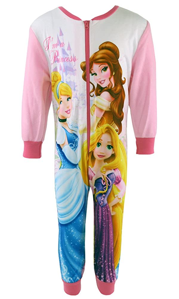 Disney Girls Princess Onesie Frozen Cinderella Tinkerbell Belle Anna Elsa Onesie Sleepsuit 2-8 Years
