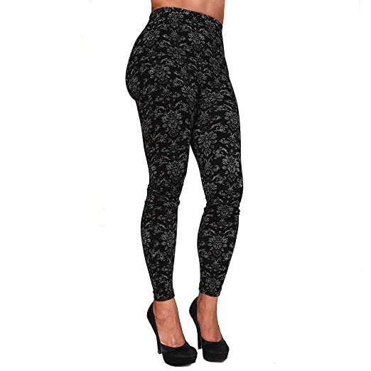 Ozzie Fashion Women S Fashion Pattern Seamless Cotton Leggings At