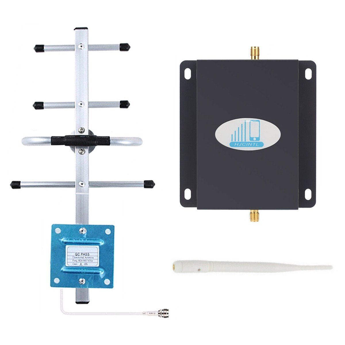 Cell Phone Signal Booster 4G Lte Verizon Cell signal Booster HJCINTL High Gain 65dB Band13 700MHz Home Mobile Phone Signal Booster Amplifier with Yagi/Whip