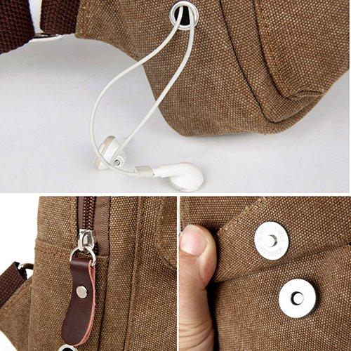 Gemini _ Mall® Sling Bag Brust Schulter Ungleichgewicht Rucksack Sack, Outdoor Rucksack Bike Umhängetasche, Tasche armee-grün