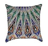 Beautiful Islamic Tile Mosaic Throw Pillow Cover