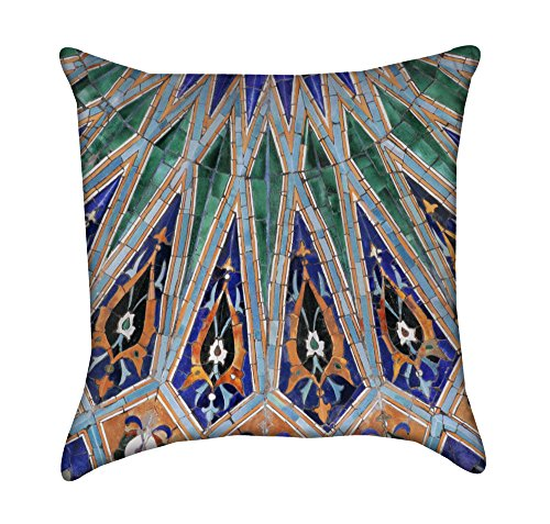 Beautiful Islamic Tile Mosaic Throw Pillow by Chickadee Décor