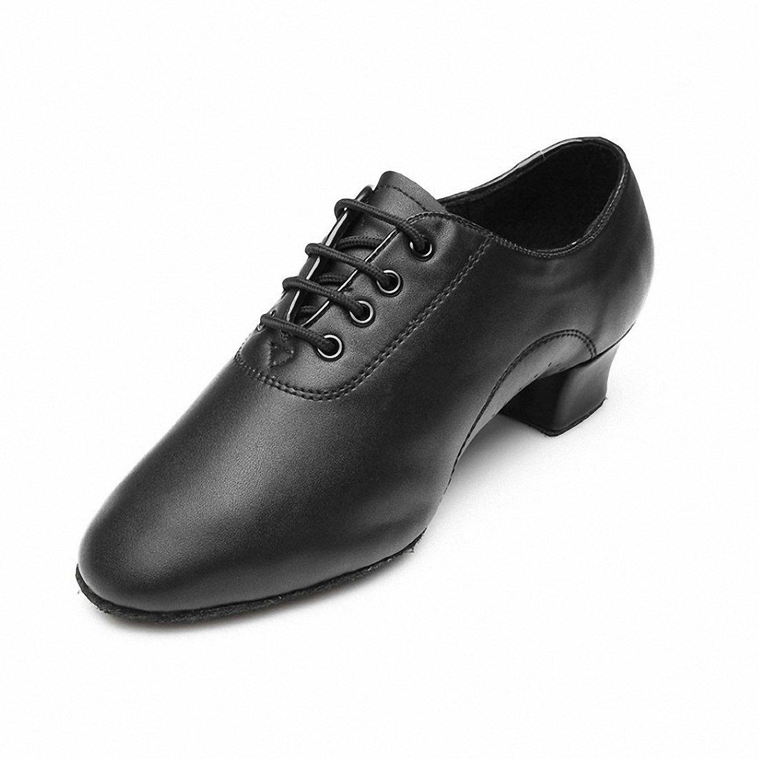 MQ Hombres de Jazz Latina Zapatos de Baile Negro Suave Parte Inferior Zapatos de Baile Moderno Zapatos de Baile, Hombre, 44,5 EU SANSHA 701-45