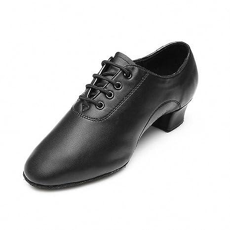 De Mq Parte Hombres Zapatos Latina Jazz Suave Baile Negro rrd5q4wnC6