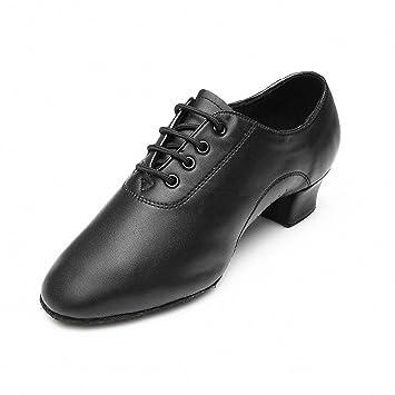 MQ Hombres de Jazz Latina Zapatos de Baile Negro Suave Parte Inferior Zapatos de Baile Moderno Zapatos de Baile, Hombre, 41: Amazon.es: Deportes y aire ...
