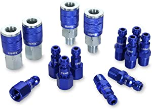 ColorConnex Coupler & Plug Kit (14 Piece), Automotive Type C, 1/4 in. NPT, Blue, A72458C