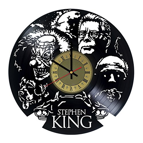 Stephen King Vinyl Wall Clock Comics Stephen King Gifts Living Room Home Decor