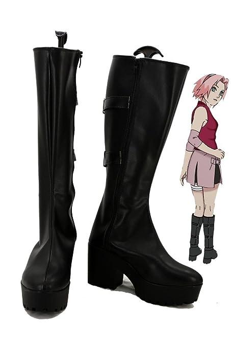 Naruto Anime Haruno Sakura Cosplay Shoes Boots Custom Made White