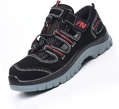 Dxyap Calzado de Seguridad para Hombre Transpirable Ligeras S3 Trabajo Trainer Comodas Zapatillas Seguridad con Punta Acero Unisex Adulto Zapatillas de Seguridad: Amazon.es: Zapatos y complementos