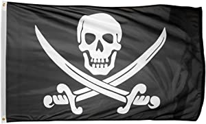 Time Roaming 3x5 Ft Pirate Jack Rackham Polyester Flag with Brass Grommets