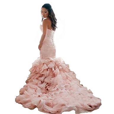 d8e3a4e1d9644 Amazon.com: Fair Lady Sweetheart Ruched Pleated Mermaid Wedding ...