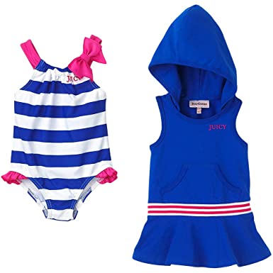 ff075a45658e0 Amazon.com: Juicy Couture Baby Swim Suit and Coverup (3/6M): Fashion ...