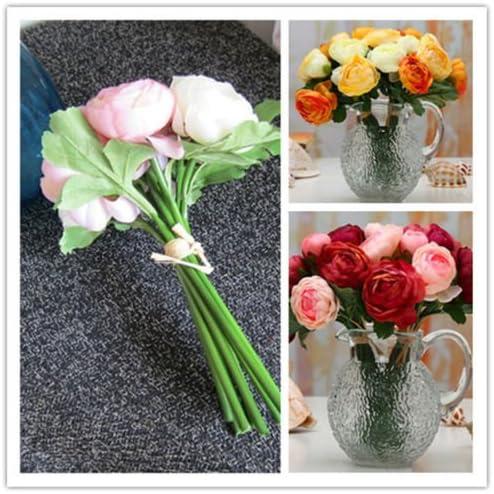 1 Bouquet 7 Heads  Fake Sunflower Artificial Silk Flower Home Room Floral FEH