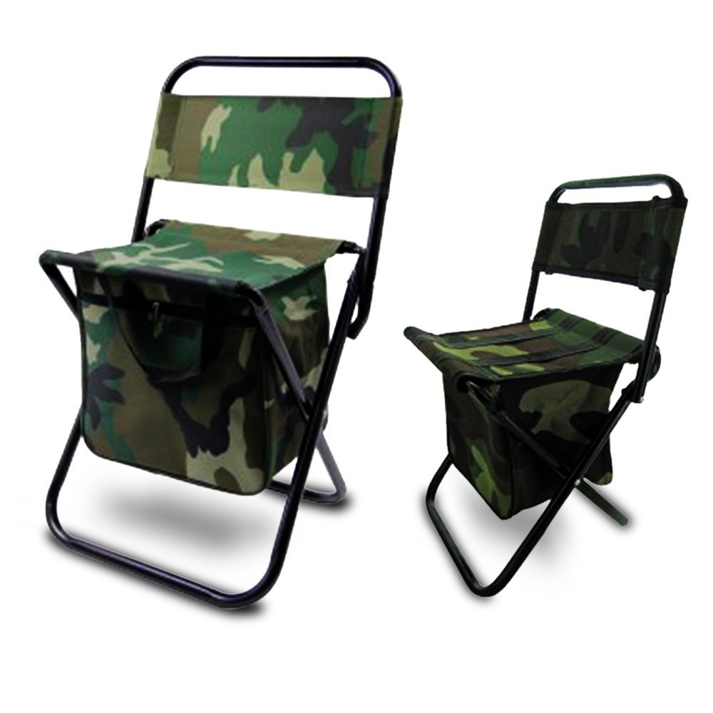 Amazon.com: [BUNDLE 2 PACK] CAMO Lightweight Folding Chair Set   Child U0026  Adult COMBO 2 Portable Ultra Light Chairs Indoor / Outdoor Armless (NO  ARMS) Kids/ ...