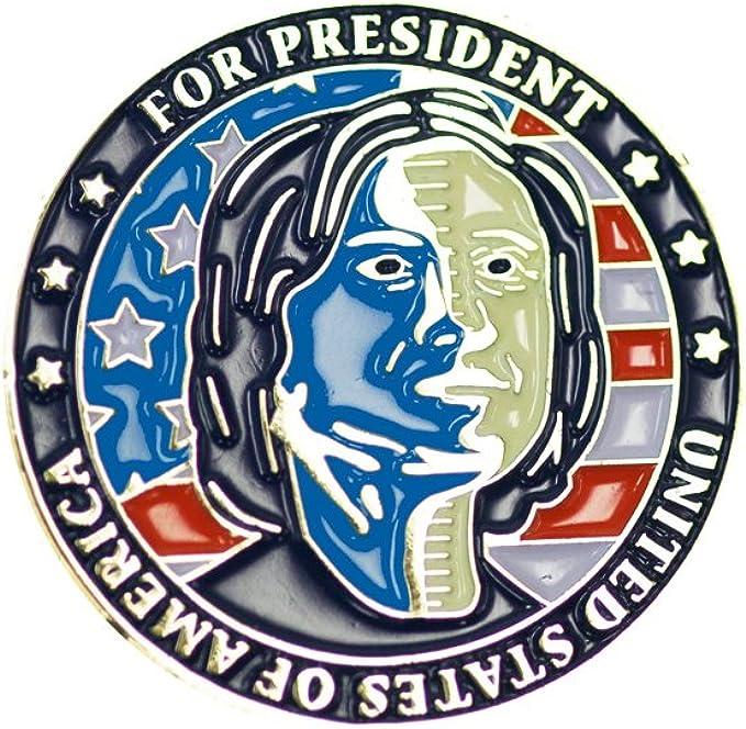 Donald Trump /& Hillary Clinton For President Flip Coin