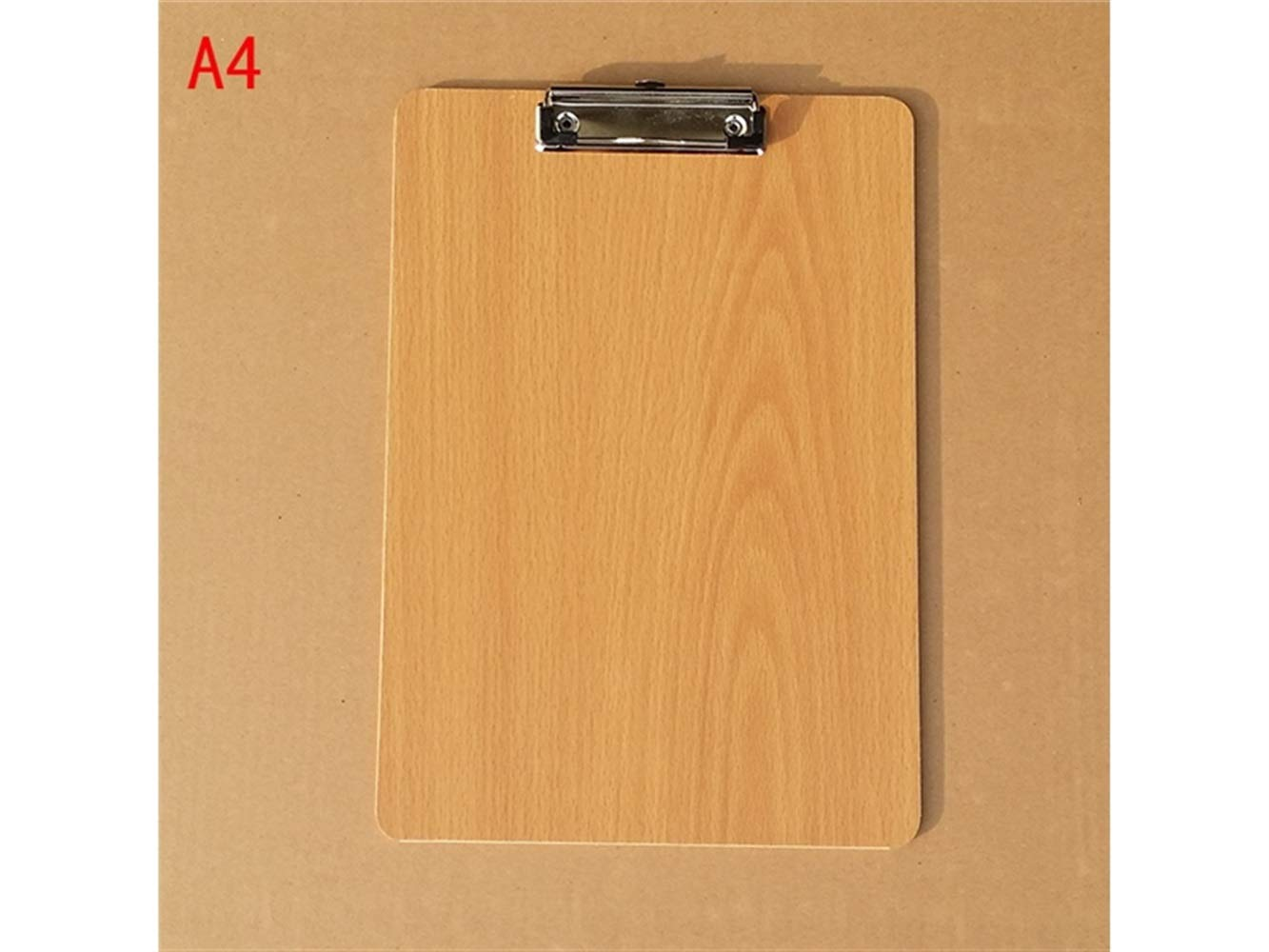 Pullic Write board A4 Wooden File Clipboard with Hanging Hook (Yellow)