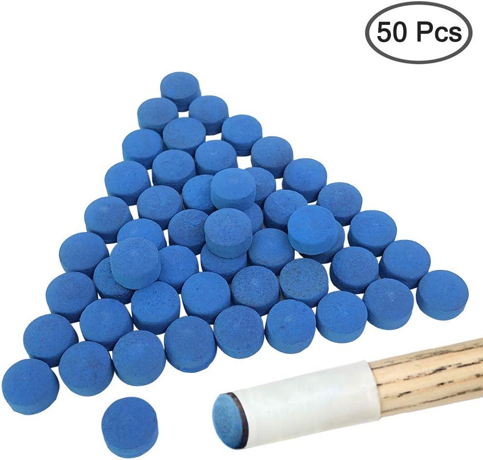 YuCool - Puntas de Billar para Tacos de Billar (50 Unidades), Color Azul: Amazon.es: Deportes y aire libre