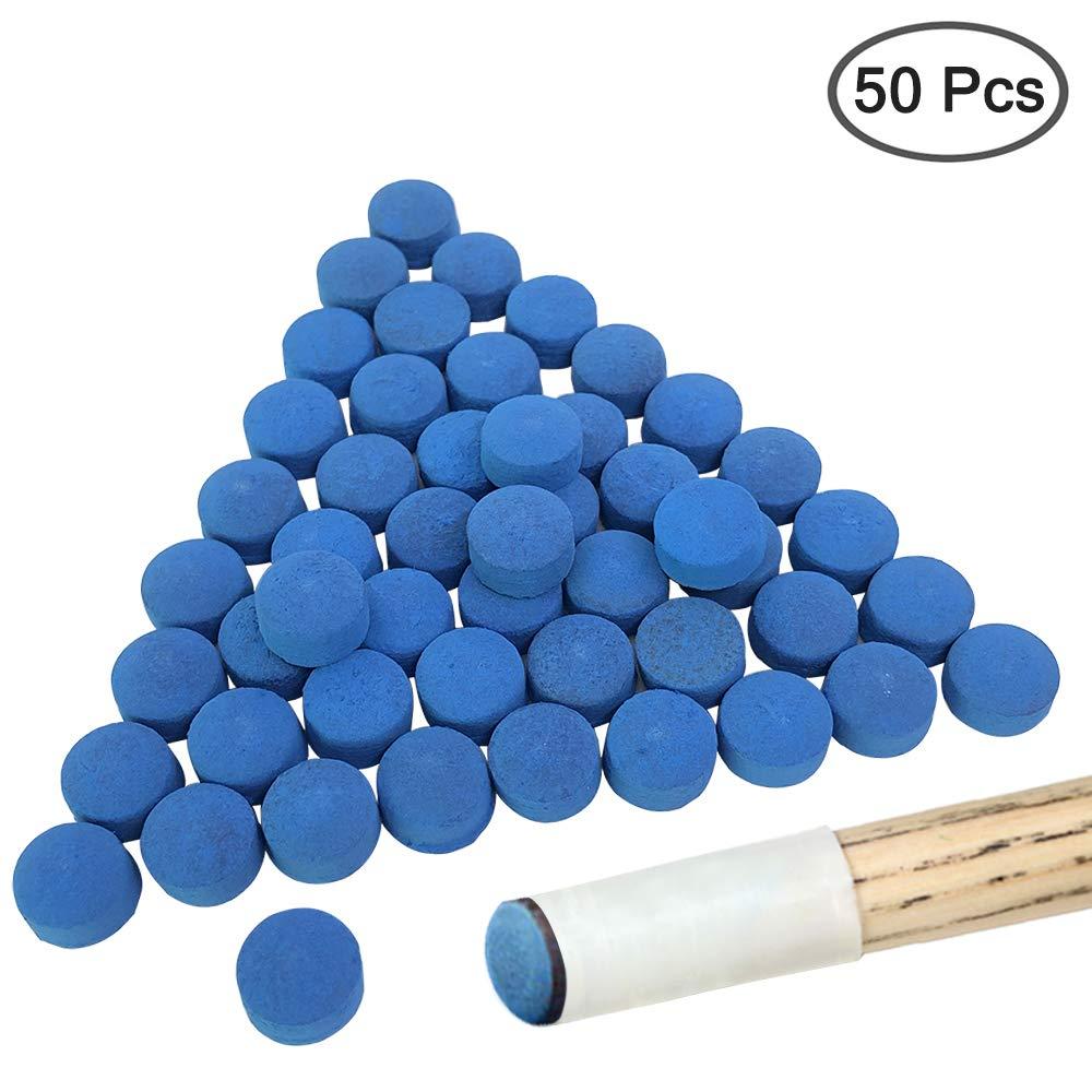 Colore: Blu 50 Pezzi YuCool Punte di Ricambio per Stecche da Biliardo