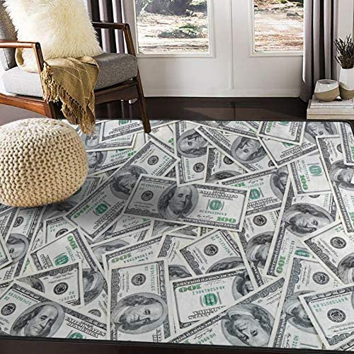 ALAZA Funny Dollar Money Area Rug Rugs for Living Room Bedroom 7 x 5